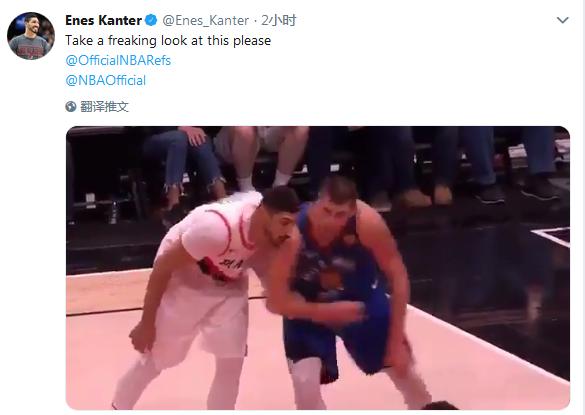 【影片】200多斤的乖寶寶?鎖喉Lillard,往Kanter的傷肩上撞,Jokic的動作有點過分了!-籃球圈