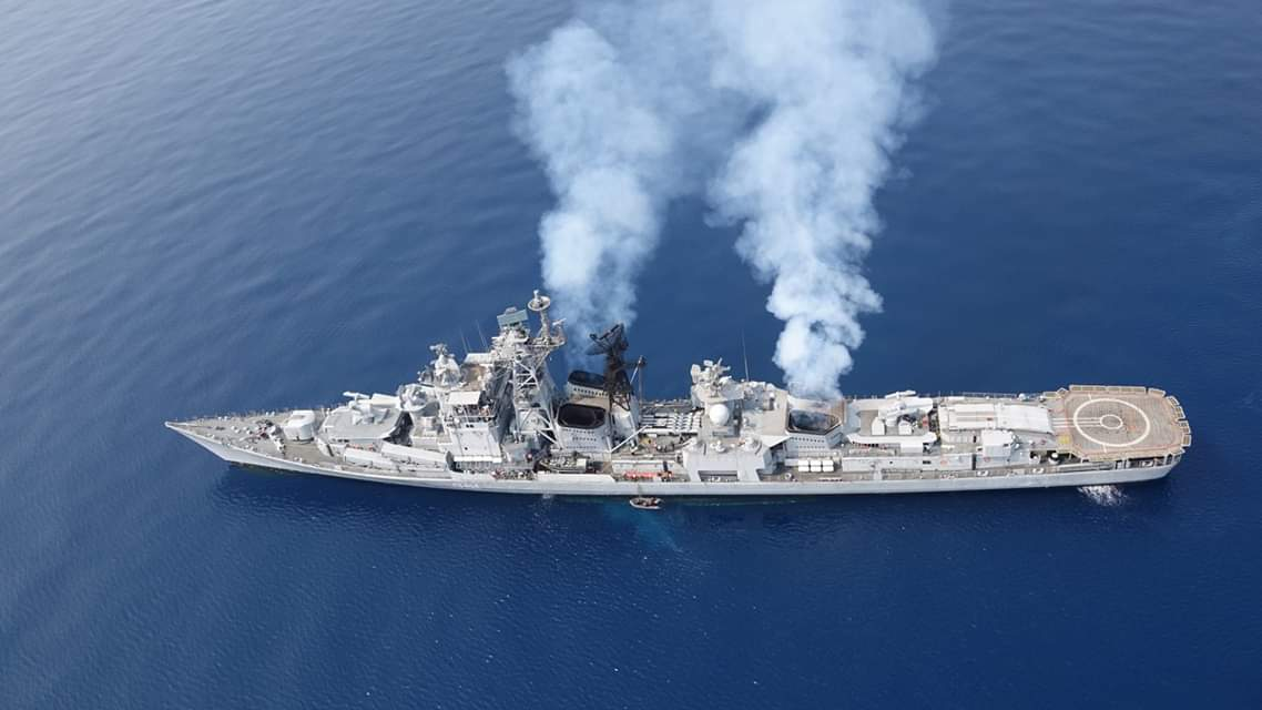 """Suraj Pratap Singh on Twitter: """"INS Rajput (D51) continues to serve the  Indian Navy today in its designated guided-missile destroyer role. It forms  part of the Indian Navy's Eastern Naval Command surface"""