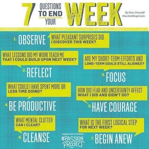 7 Q's To End Your Week 🤔💡🏆 (by http://marcandangel.com) #edchat #education #elearning #edtech #k12