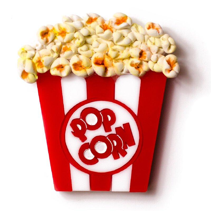 Поздравления, надпись попкорн с картинкой