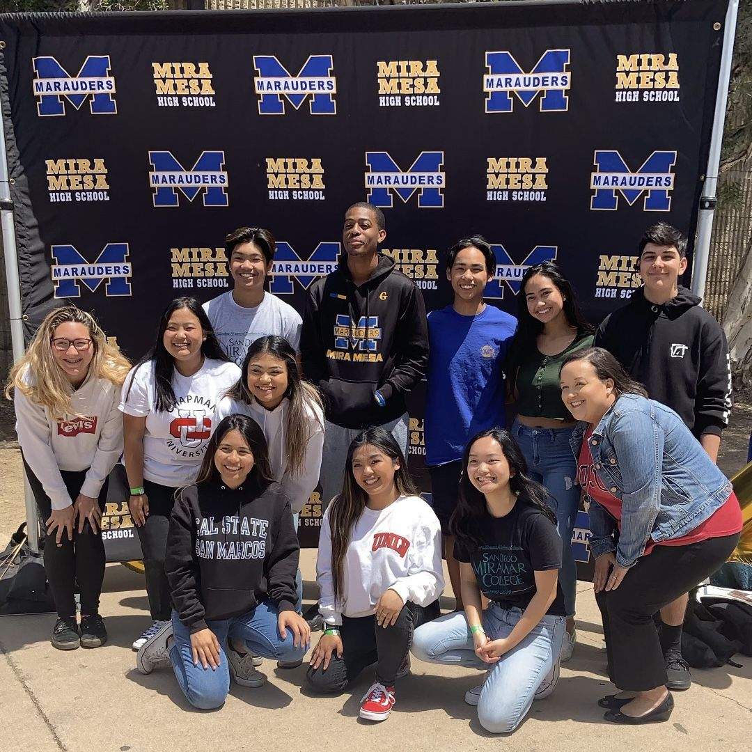 #CollegeSigningDay was a success! Thank you for having us @MMHSMarauders #ThisIsAVID