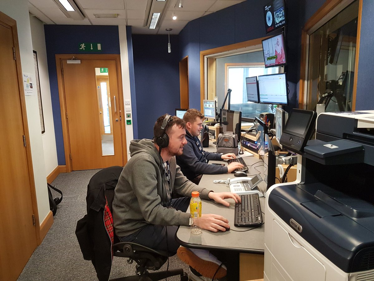 In the studio at @BBCRadioStoke for live coverage of @OfficialPVFC at Bury and @crewealexfc away at Grimsby. Its the last Saturday of the season and a big thank you to @robingrey21 @domjdietrich & @LawrensonTom for brilliant work behind the scenes every week! #unsungheros