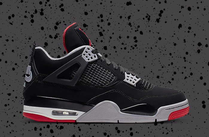 "25cdaec0 The Air Jordan 4 Bred, also known as the ""Black Cement"" makes a return  today. Catch a W, cop the kicks on StockX:  http://bit.ly/Jordan4RetroBred2019 … ..."