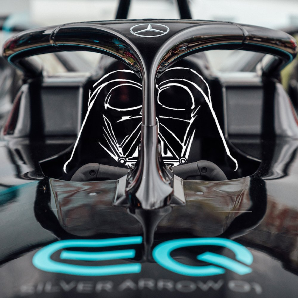 The force is strong with this one. ⚡💪 Follow us on our journey @MercedesEQFE   #maytheforce #StarWarsDay #inspiredbyEQ #FormulaESoonHasAMercedes #MercedesFE #MercedesBenz #switchtoEQ #ABBFormulaE #disney