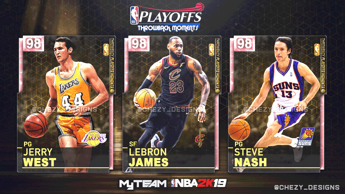 📸 Here're some Throwback Playoff Moments cards that I'd like to see in MyTeam... 👀 Let me know which players YOU want to see in the game ⬇️  Also, drop a ♥️ and 🔄 if you want these cards in  @NBA2K_MyTEAM !