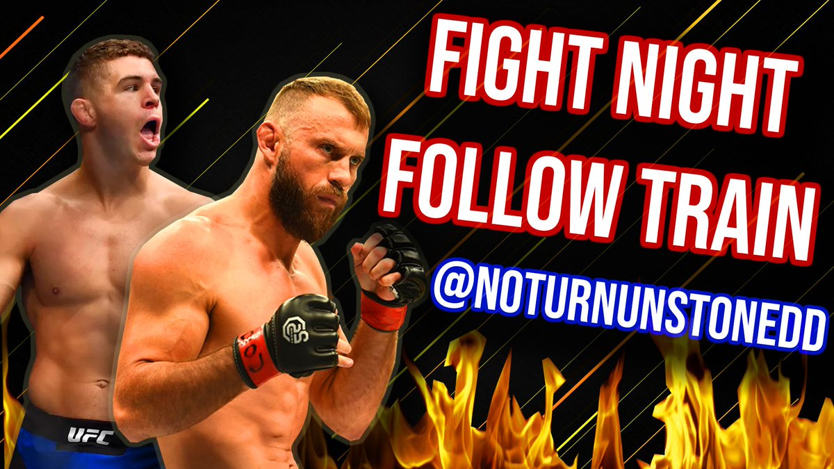 #UFCOttawa FIGHT NIGHT FOLLOW TRAIN!🔥💯  1. Retweet & Like this post. 2. Follow All MMA Accounts that share. 3. Watch your following grow & connect with new fans! #CowboyIaquinta #FightNightFollowTrain 🚆