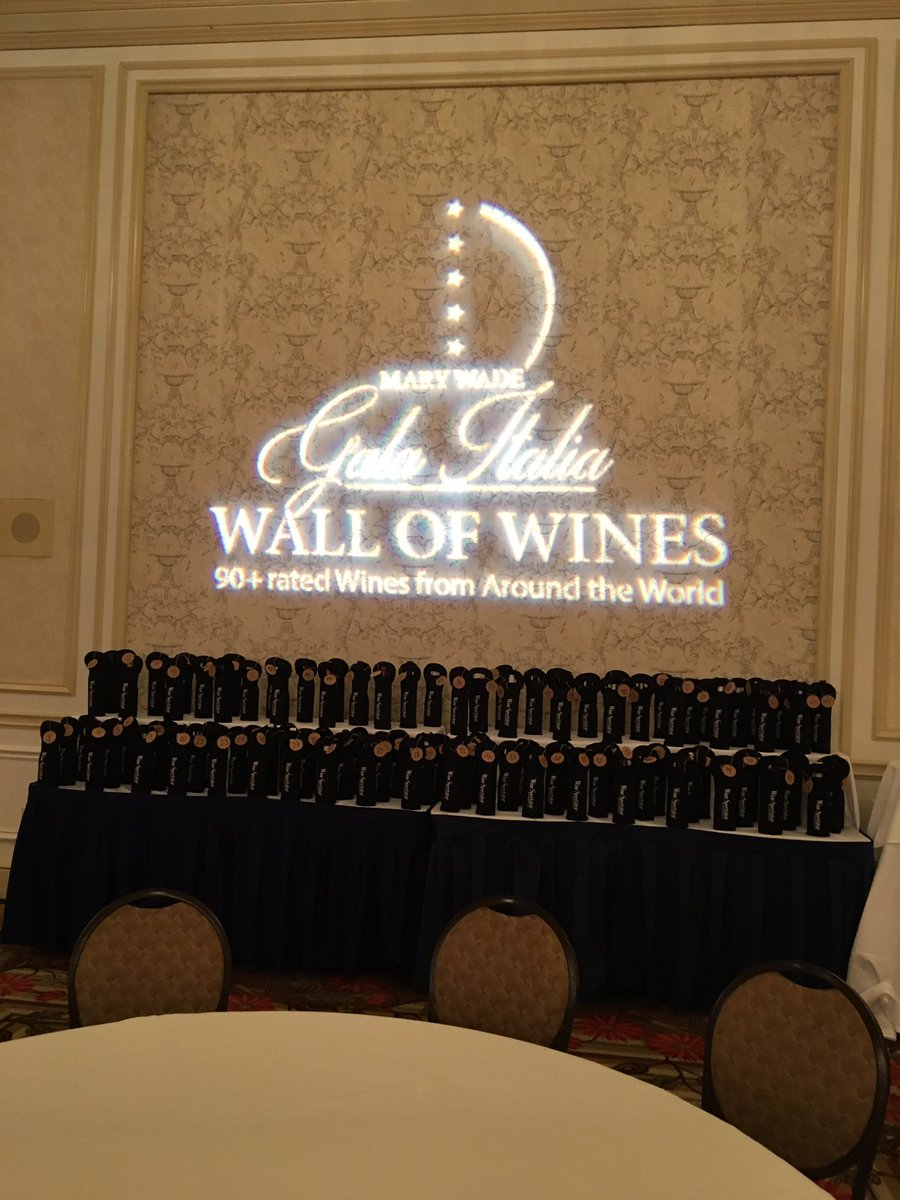 100 Bottles of Wine on the @marywadenh Wall of Wines are set for guests tonight at the @omniHotel featuring @AllegriniEstates Wines from Italy.  #NHV #Allegrini #MaryWade #Wine #winetasting #winelovers #winedinner<br>http://pic.twitter.com/kgBmxyWgjh