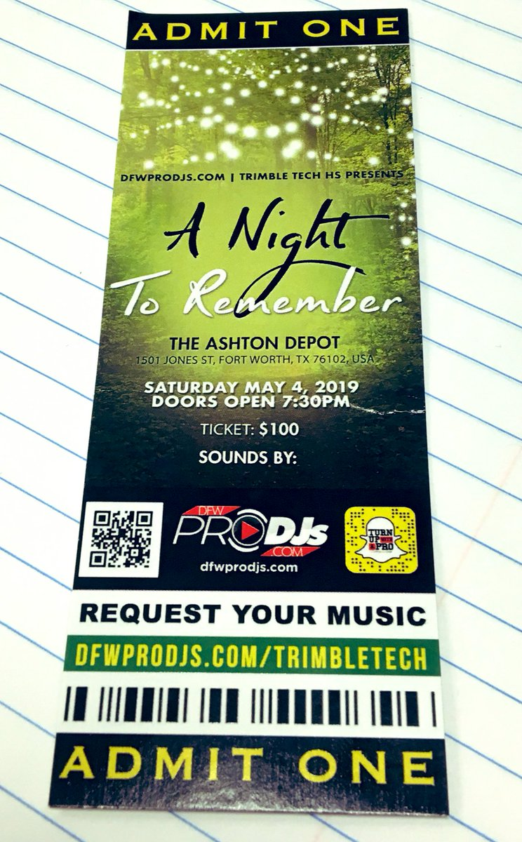 Tonight is the night! #Prom2019 is at @theashtondepot, doors open at 7:30. 🎶👠👑