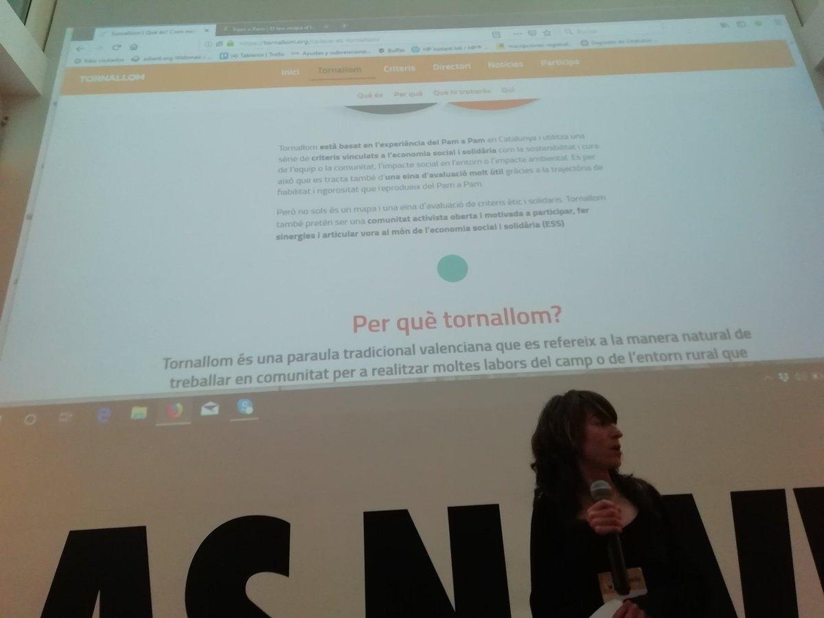 Ls compas de @reaspv nos presentan el #Tornallom, mapeo hermano del @pamapamcat para #paisvalencia. Bienvenido!  #Idearia2019
