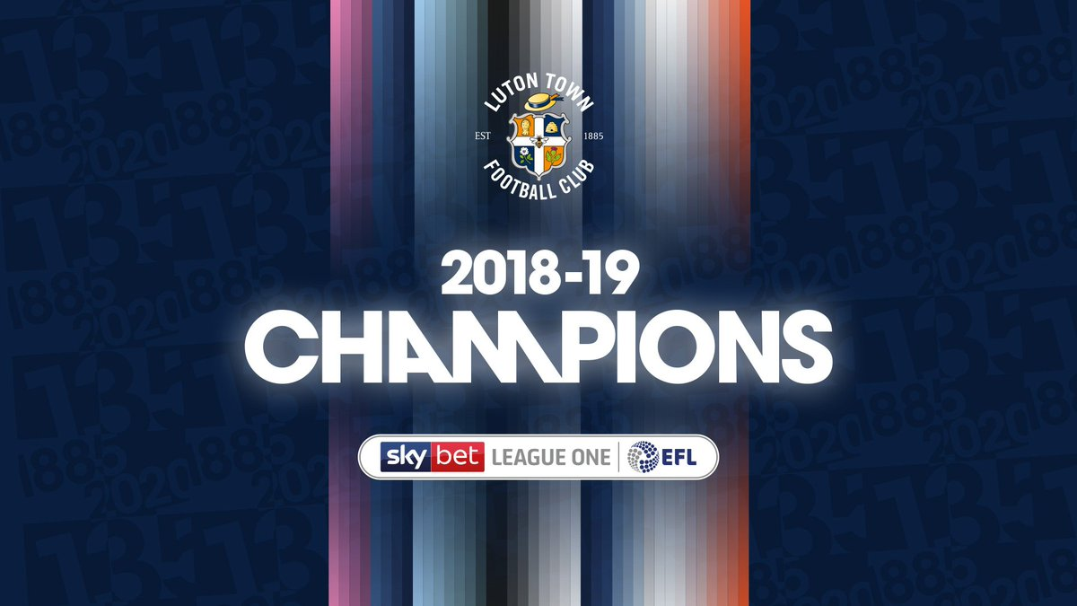 FULL TIME | Ladies and gentlemen, Luton Town are the champions of @SkyBetLeagueOne. #COYH