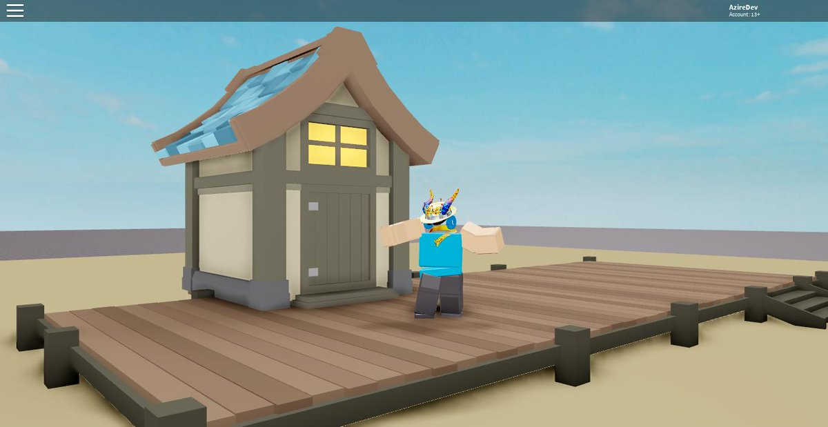 Roblox Log Cabin Azireblox On Twitter Beach Side House Roblox Robloxdev