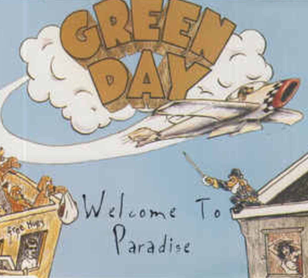 Happy Birthday to my old friend Green Day s Mike Dirnt! Here is the cover of the single for Welcome To Paradise