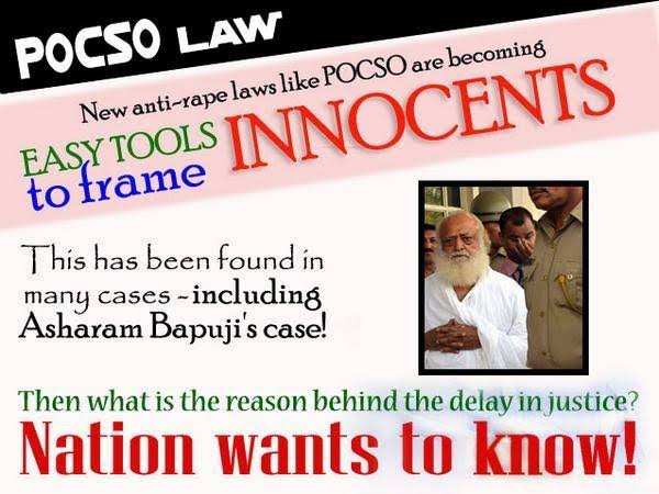 #MisuseOfRapeLaws especially POCSO MISUSE is a tool to frame INNOCENTS...  @narendramodi Ji NATION WANTS TO KNOW :-  Why GOI is so ignorant towards #Justice4Bapuji ? Had 55+ years of #SelflessSewaActivities no value ? Or a FAKE ALLEGATION is more strong.  #LawMisusedAgainstHindus<br>http://pic.twitter.com/p8j3Dw7sGj