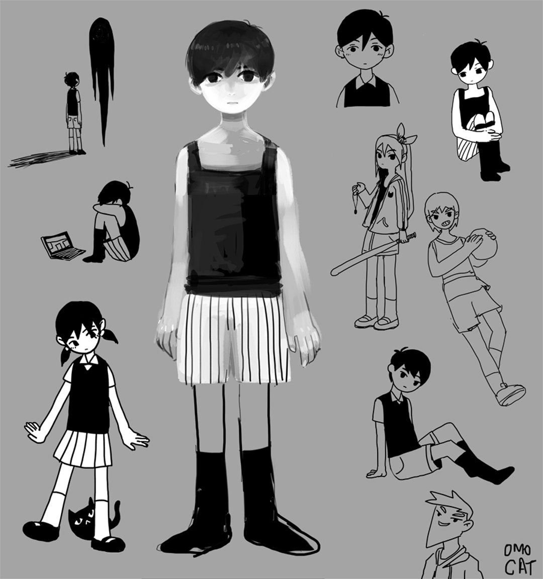 Omori On Twitter Old Character Doodles Bottom Right Hero Is Still My Favorite 2014