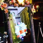 Our beautiful Magic Mirror at last night's wedding @Athelhampton #magicmirror #weddings #weddingseason