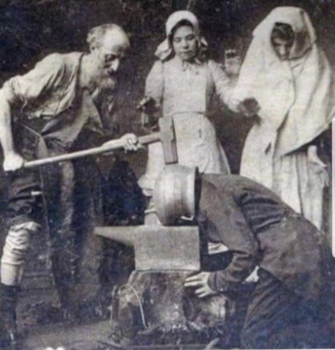 1895 de baş ağrısı böyle tedavi ediliyormuş 🤔  #BiSeySorucam