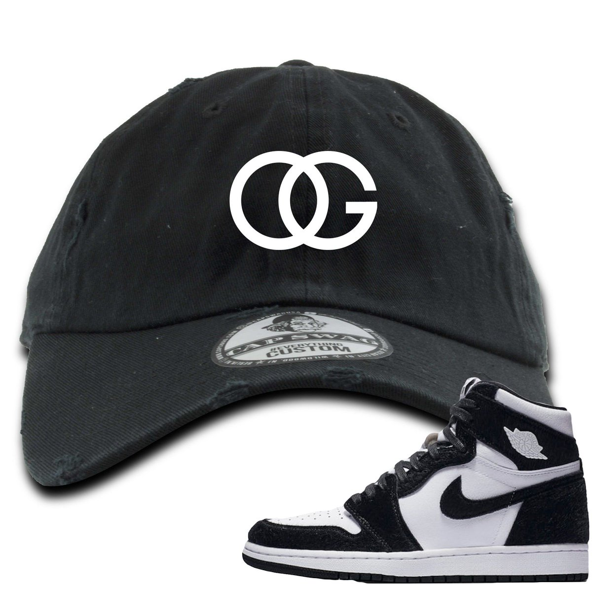 6e86ea88312256 This OG Logo Black Distressed Dad Hat from Foot Clan is a perfect to match  your