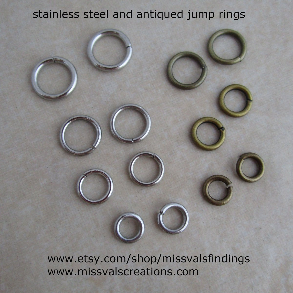 100 Gold Plated Open 7MM Jump Rings 18 Gauge Jumprings Beading Supplies