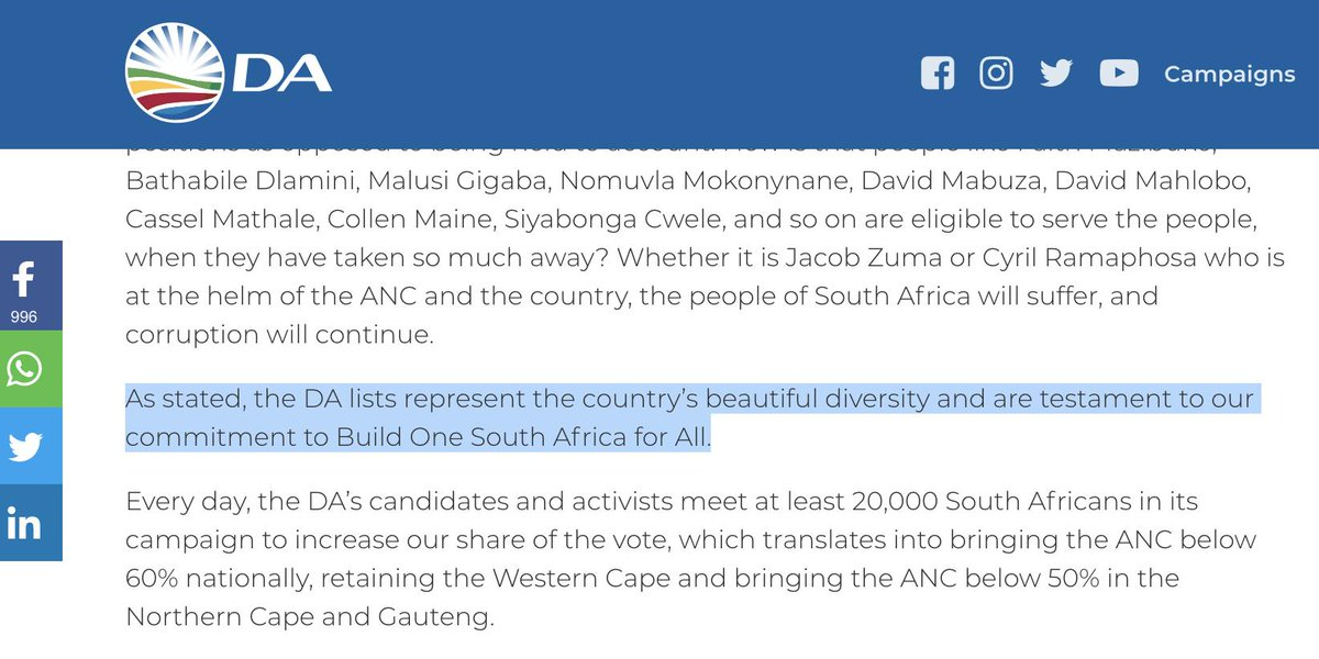 Helen Zille On Twitter Have You Ever Heard The Saying About People