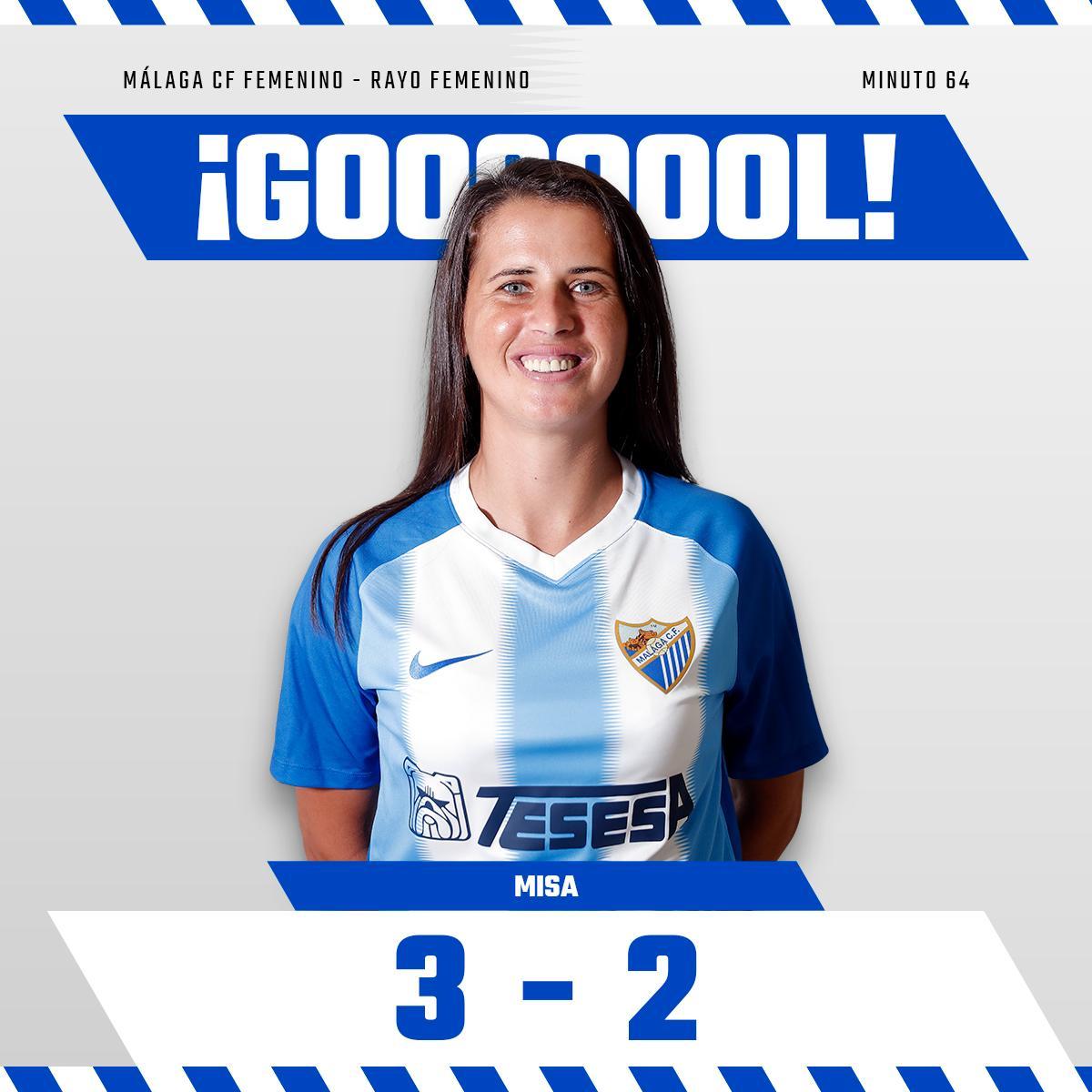 3-2 Min64| ¡¡¡GOOOOOOL GOOOOOL GOOOOOL DE MISA!!!! El #MálagaFemenino le da la vuelta al partido con un golazo de Kuc, que acaba de ingresar en el campo en sustitución de Dominika.   #MCFFLive #MálagaRayo⚽️ #SomosMálaga💙 #LuchaConNosotras💪