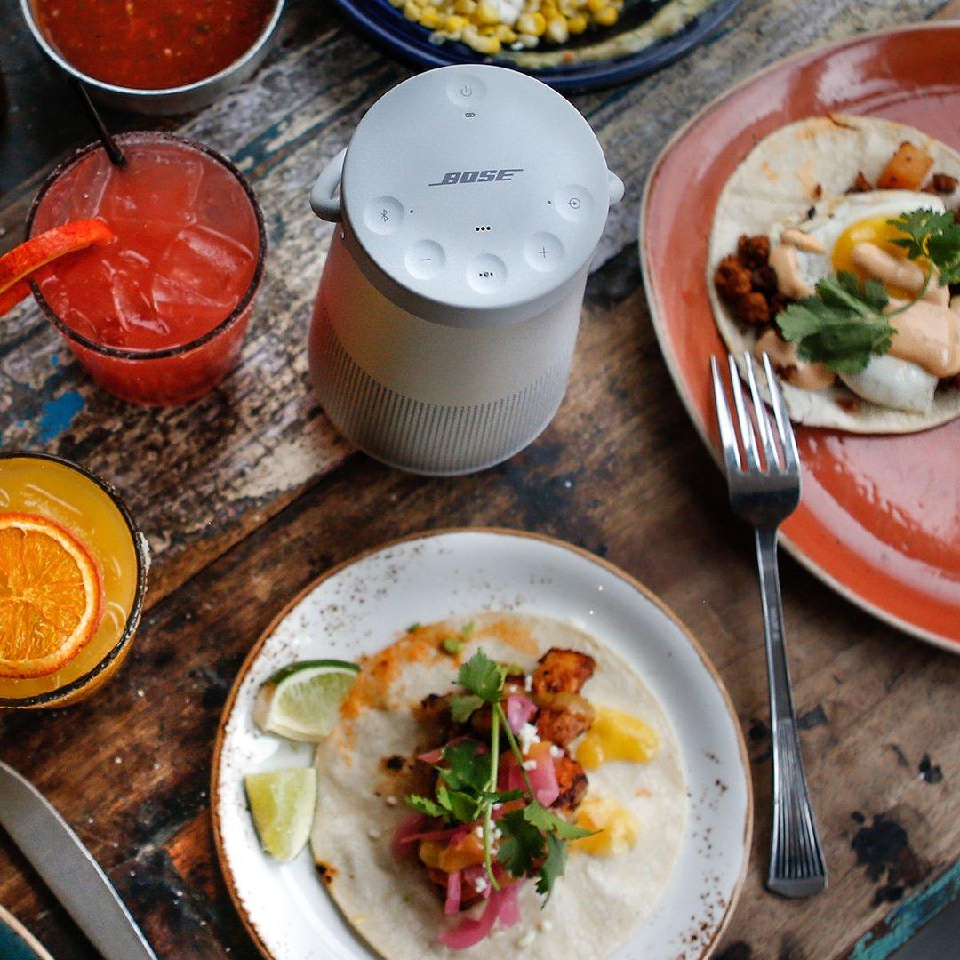 You bring the tacos. We'll bring the music.#CincoDeMayo#SoundLink Revolve+ https://bose.life/2GSOBij   📍: @paintedburro