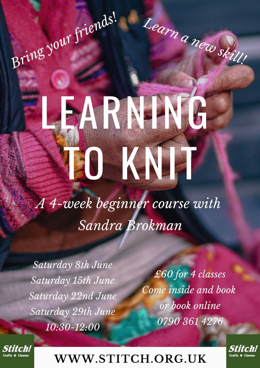 learning to knit course