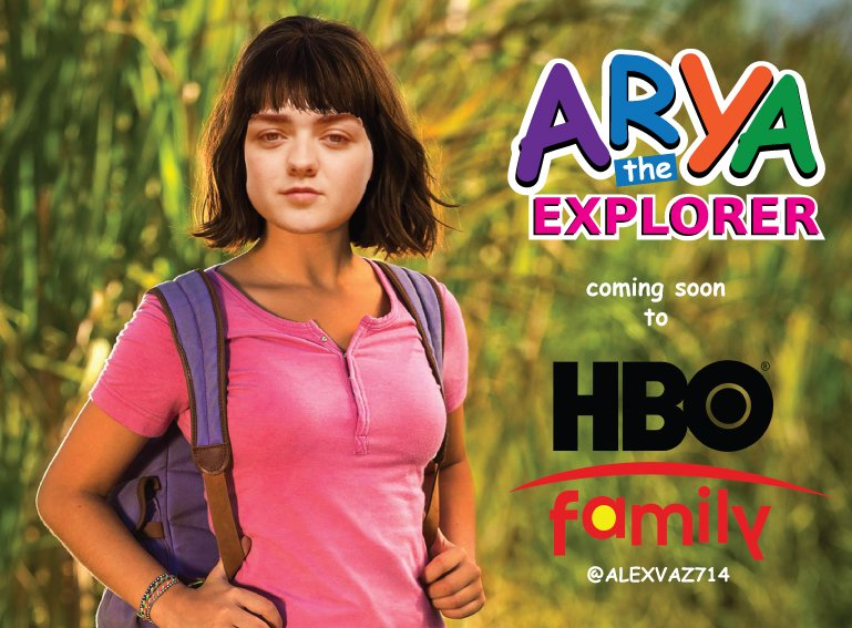 Coming soon to @HBO family: Arya The Explorer #GameOfThronesFinale #GameOfThrones #TheFinalEpisode #DemThrones #Bran #Arya