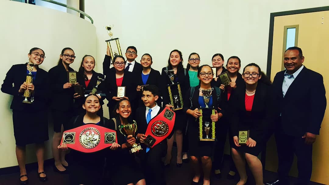 Way to go ALA Middle School Speech and Debate Team! Tiffany and Justin took 1st Place in the State in Duo! Our team finished 7th place over all! Thank you Mr. Tinajero, and  our Coach Mrs. Hogan! #NextStopIsNationals #DallasHereWeCome #SAUSD #ALAWOLFPRIDE