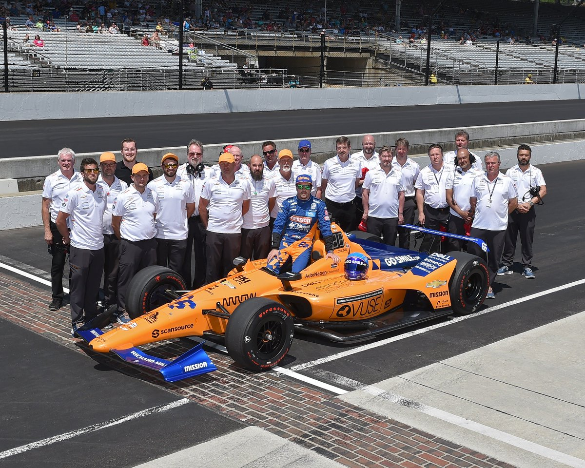 A big thank to everybody that we've met along our #Indy500 journey. The team at @IndyCar, @IMS and every other team on pit road, the media and of course our partners and fantastic fans. Our journey didn't go as planned, but we always felt welcome. Thank you. #McLaren66