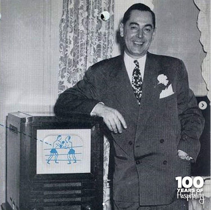 From the first guest room TV in 1947 to today's mobile-centric Connected Room TVs, swipe to see how our #technology has evolved in the last 100 years. #Hilton100 @hiltonnewsroom @Hilton @Hiltonhonors https://t.co/P1KrdhD3vD
