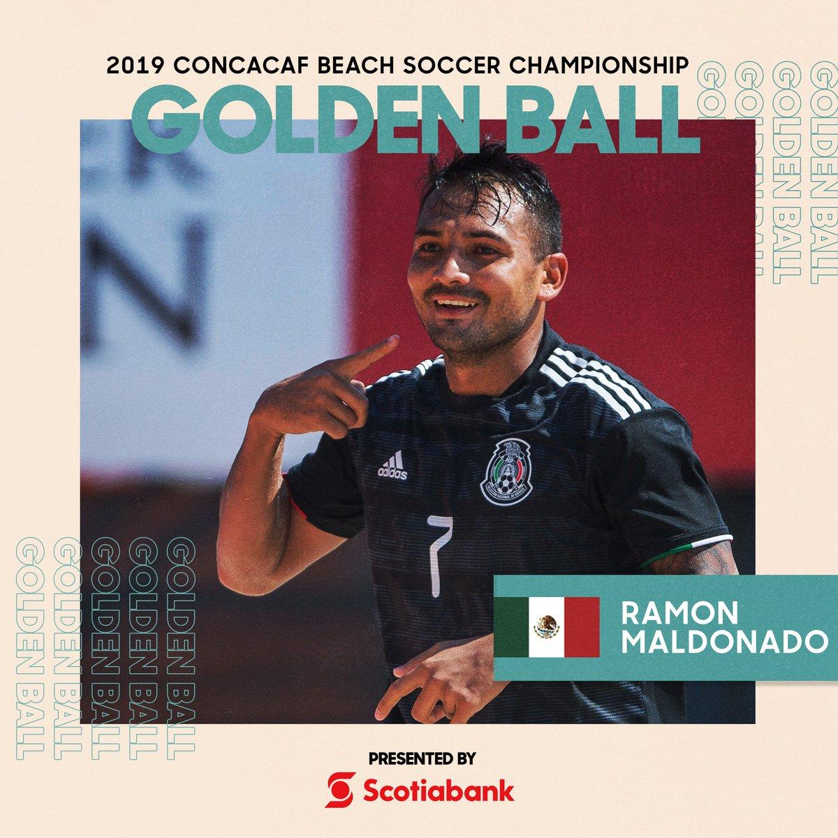 Después de una gran actuación en #CBSC 2019, Ramón Maldonado de @miseleccionmx, es el ganador del Balón de Oro, presentado por @ScotiabankFC