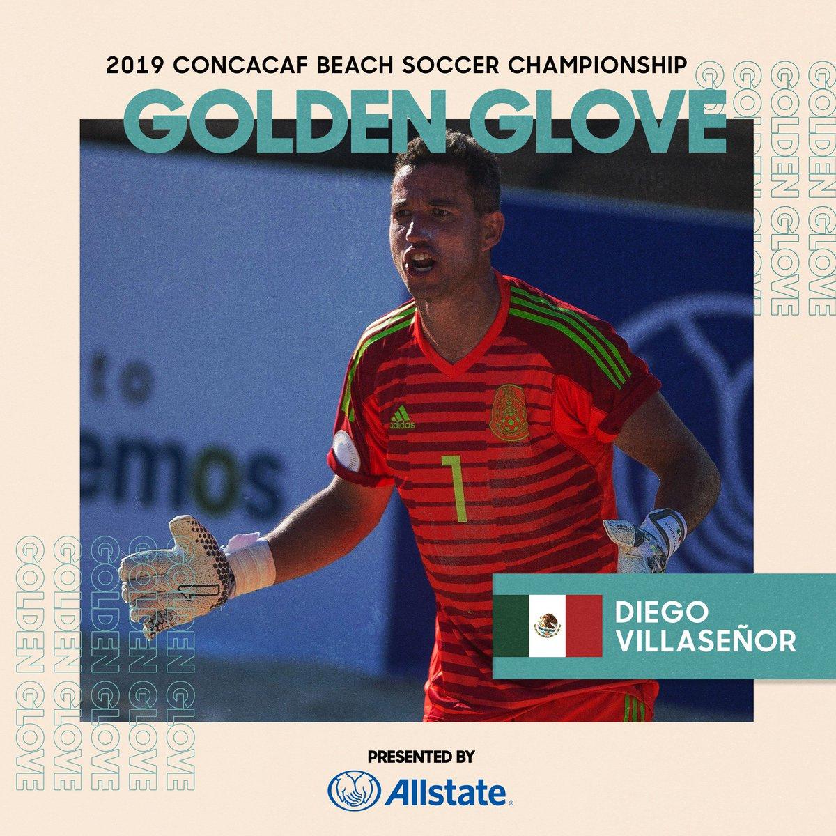 ¡Diego Villaseñor de @miseleccionmx es el ganador del Guante de Oro #CBSC presentado por @Allstate!