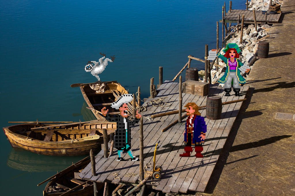 R E A L B I T S  🐒🏝️☠️  #MonkeyIsland #pointandclick #SCUMM #RetroGaming by @VictorSauron