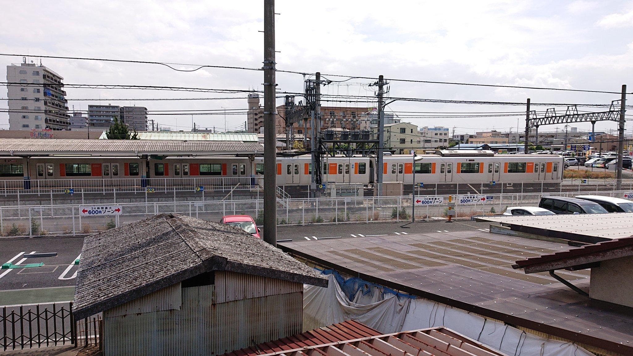 東武東上線の東松山駅で人身事故の現場画像