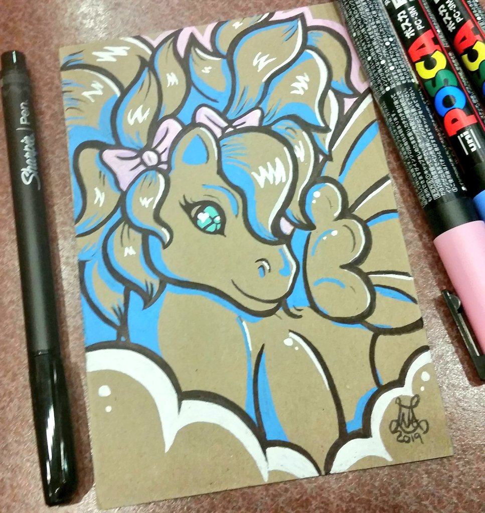 I finished this gal on my break today at work. :)#mlp #G1 #mylittlepony #pony #pegasus