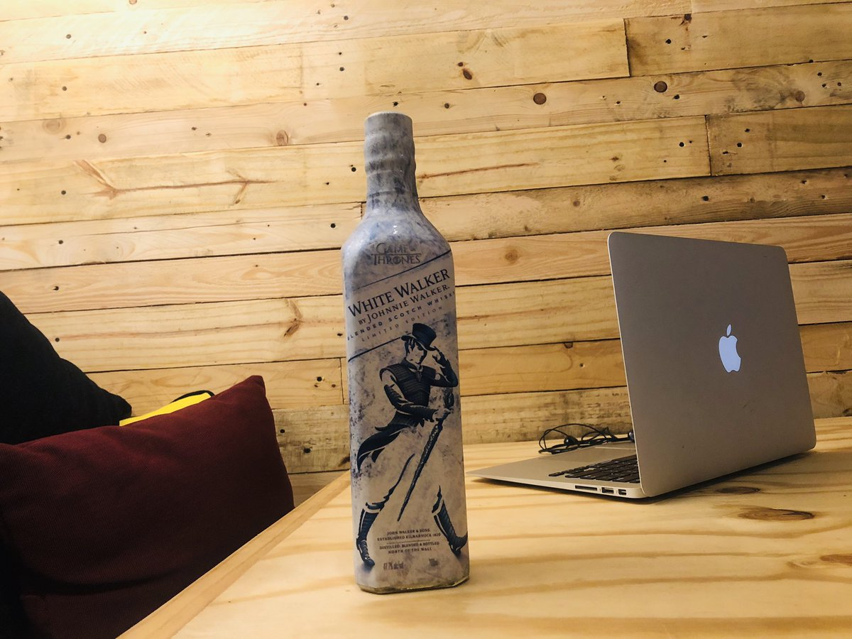 The best way to enjoy the #gameofthronesfinale is with a bottle of #JWWhiteWalker   : Me  <br>http://pic.twitter.com/WxmWAChxPK