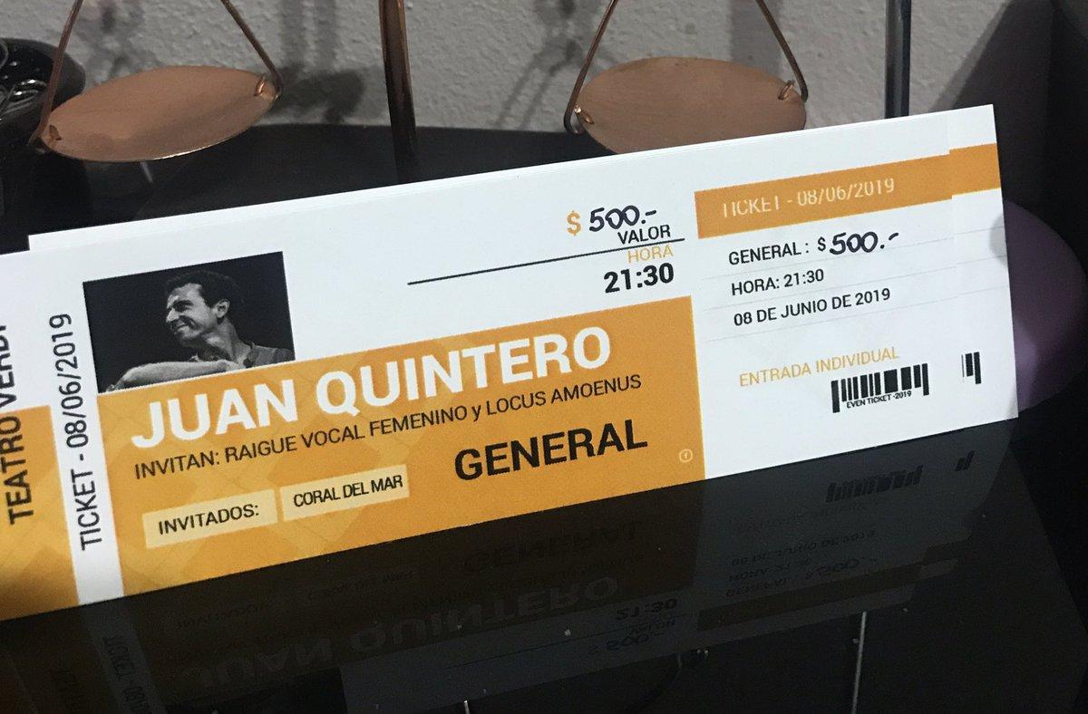 #JuanQuintero en Trelew El sábado 8/06 en el Teatro Verdi 🎶 No te lo pierdas Entradas en venta. Generales (sin ubicación) a $ 500 Palcos y primeras ubicaciones $ 700. Ubicaciones en piso de Arriba $ 300 👆🏻