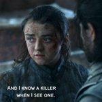 Image for the Tweet beginning: Arya after seeing 1 season