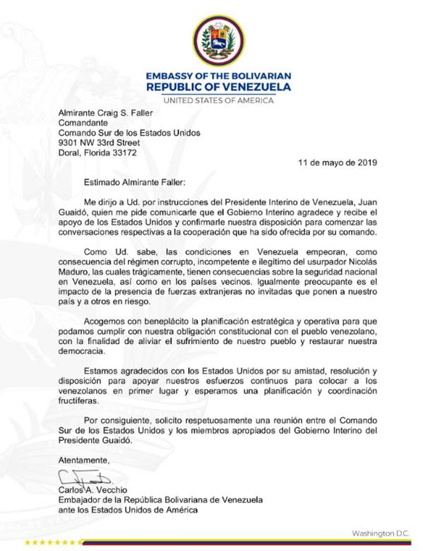 #Venezuela Mañana lunes 20 de mayo, se llevará a cabo uno de los hechos más insólitos de la geopolítica mundial. El representante de un tipo que se autoproclamó presidente en una plaza se reunirá con el Comando Sur de EEUU para solicitar cordialmente que invadan su país. 🤣