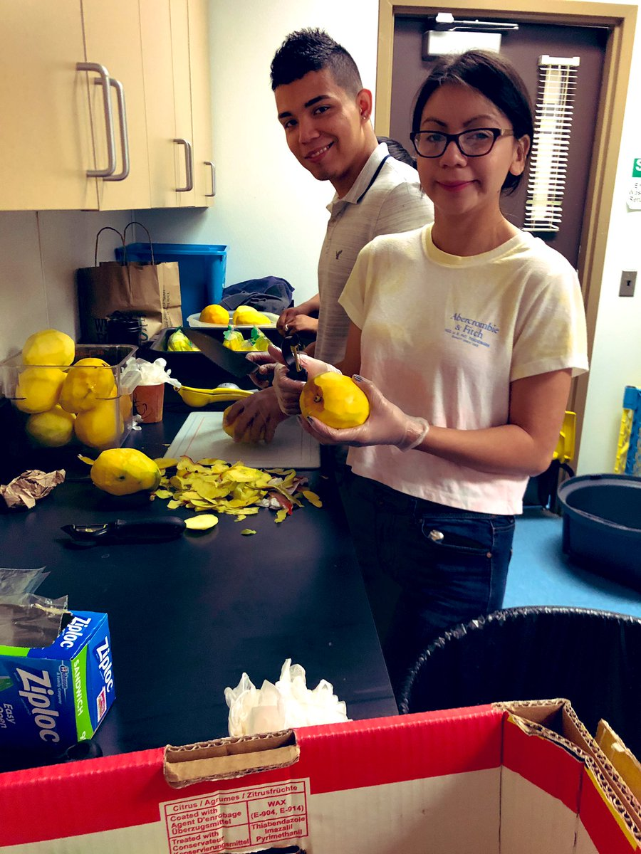 SGA Student Officers and Sponsors preparing for mango fundraiser to staff. Mangos con chile y limón! <a target='_blank' href='http://search.twitter.com/search?q=healthyfundraiser'><a target='_blank' href='https://twitter.com/hashtag/healthyfundraiser?src=hash'>#healthyfundraiser</a></a> <a target='_blank' href='http://search.twitter.com/search?q=SGA'><a target='_blank' href='https://twitter.com/hashtag/SGA?src=hash'>#SGA</a></a> <a target='_blank' href='https://t.co/ZLQUYuFaDq'>https://t.co/ZLQUYuFaDq</a>