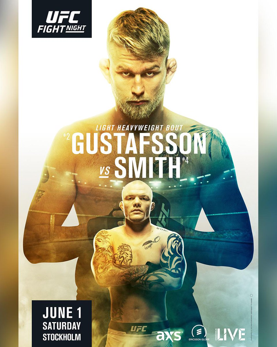The UFC is heading to Sweden🇸🇪 on June 1st with a huge LHW bout! Who you taking?