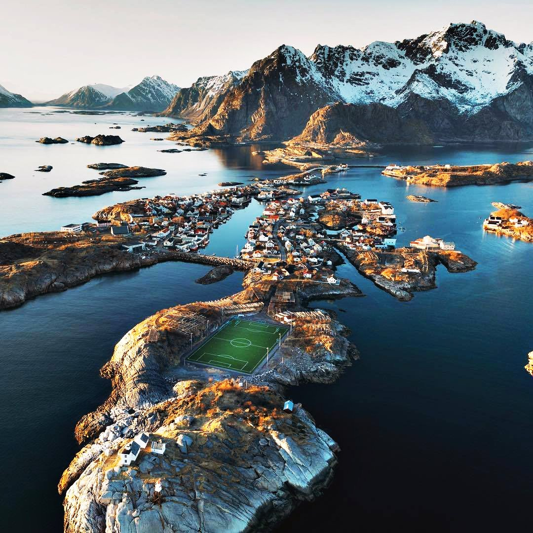 Annual reminder that one of the most picturesque football pitch locations in the world is in Henningsvær, Norway