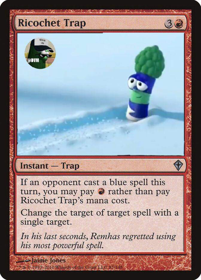 Play your card wisely! #magic #leagueofincrediblevegetables #avengerstheme #ricochet