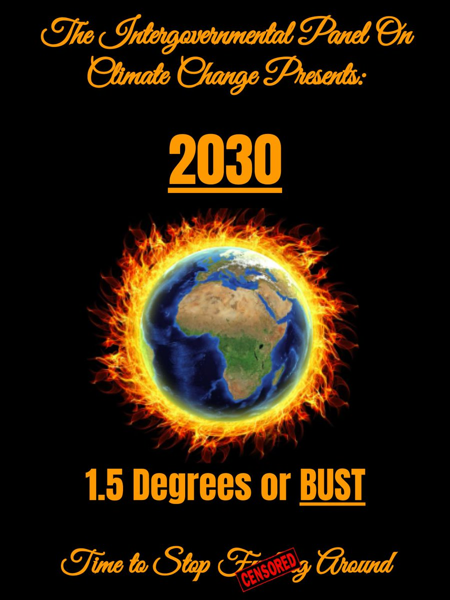 First let's restate the problem for those of us that were too busy learning all about the Royal new baby or whatever a Kardashian is:  #ClimateCrisis needs an enormous global transformation by 2030 to prevent full-blown irreversible catastrophe for our children & grandchildren /4