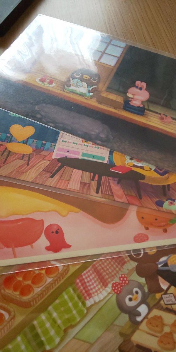 しぶぞーさん(@shibuzoh)の食べ物はいつも美味しそうでちょっと目が虚ろな動物も可愛くて幸せな世界だ。この絵の中に入りたい。#デザフェス
