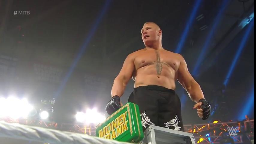 Brock Lesnar Returns At WWE Money In The Bank To Win MITB Ladder Match Main Event (Photos, Video)