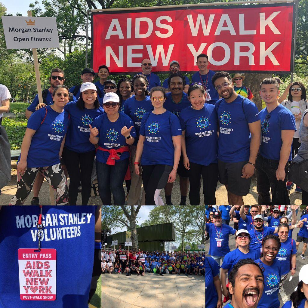 #AIDSWalk2019 #NYC @MorganStanley #OpenFinanceCoalition #GoldTeam