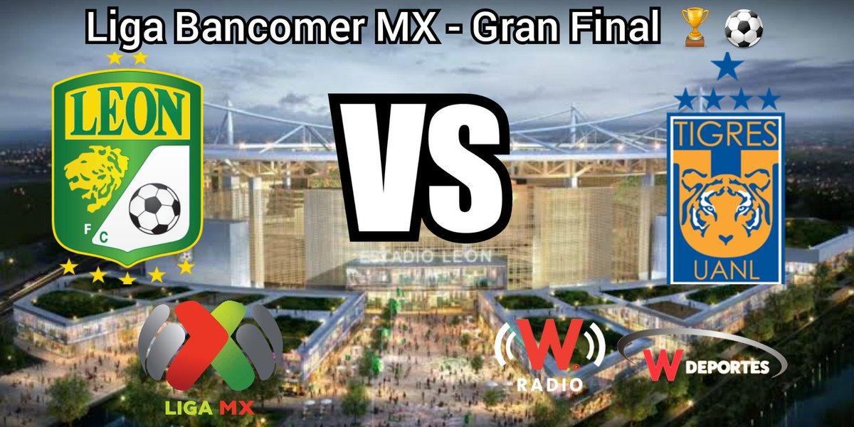 #LIGABancomerMX - #LiguillaW #LaVozDelFutbol #Leon vs #Tigres #TIGvsLEO @deportesWRADIO @WRADIOMexico