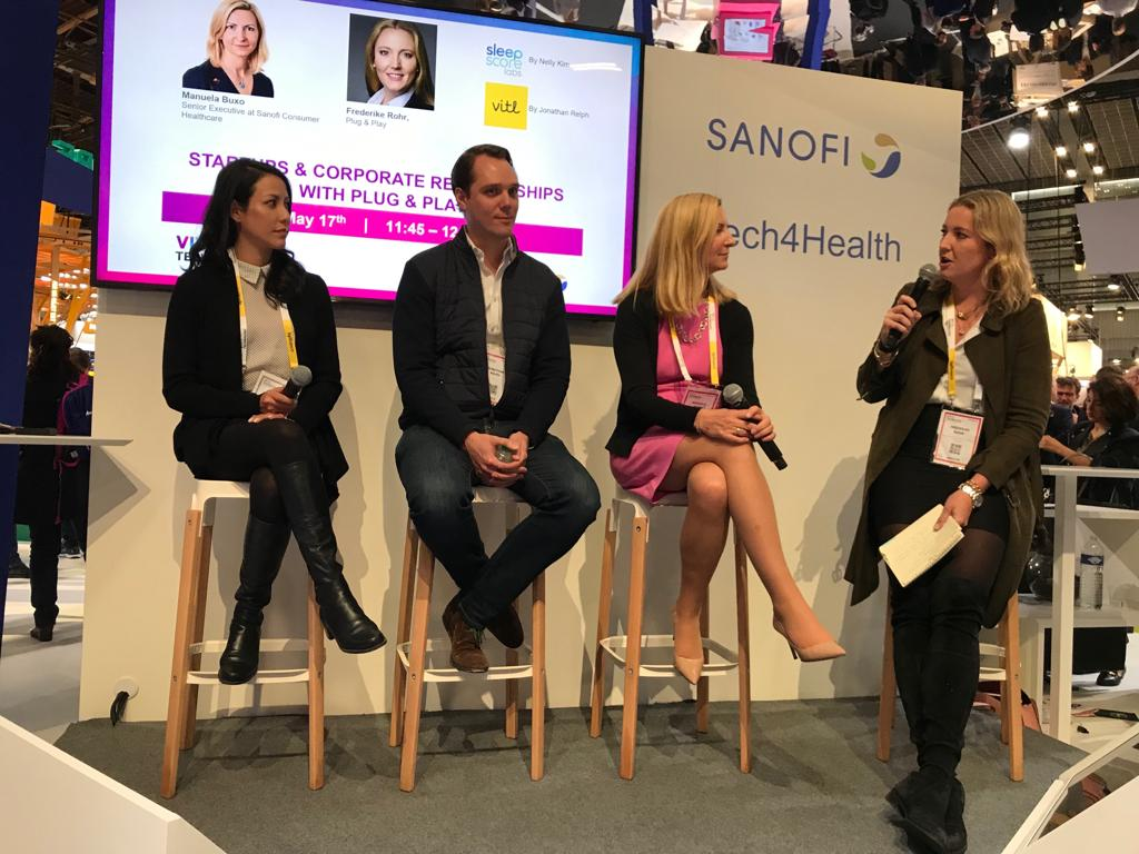 We've been having a great time @VivaTech moderating a panel with our current batch startups @VITLhealth and @SleepScore as well as Manuela Buxo from our #FoundingPartner @sanofi   #transformhealthcaretogether #digitalhealth #consumerhealth https://t.co/mqBtVezHCY