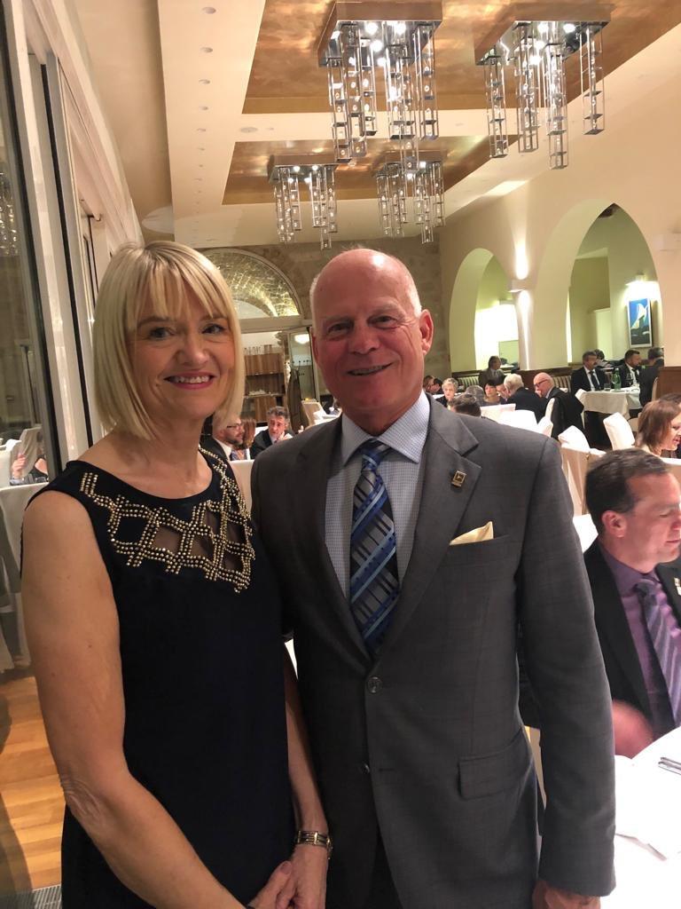 Attending the @TEGoVA1 General Assembly Gala Dinner in Dubrovnik Croatia is @DNGEllaDunphy President @IPAVireland  and Peter McClean President @AIC_Canada Appraisal Institute Of Canada. #IPAV #TEGoVA #HDSV #TRV #REV #AIoC